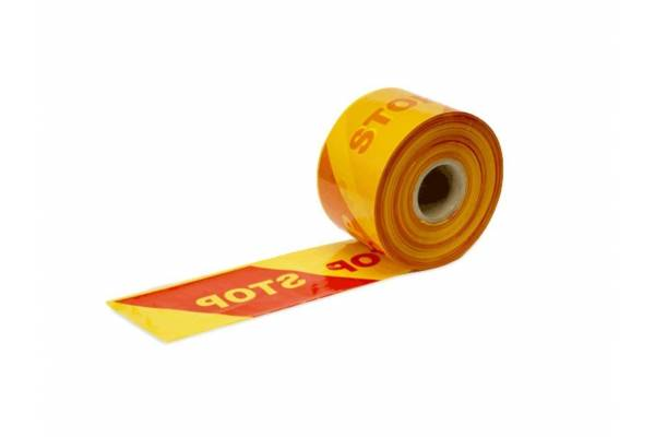 Warning barrier tape STOP 100mm x 500m