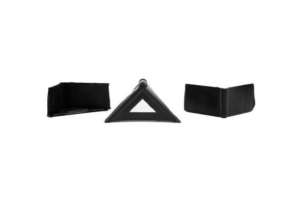 Plastikiniai kampai A formos 6,3cm x 6,3cm