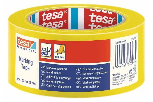 Žymėjimo juosta TESA 60760 50mm x 33m Geltona