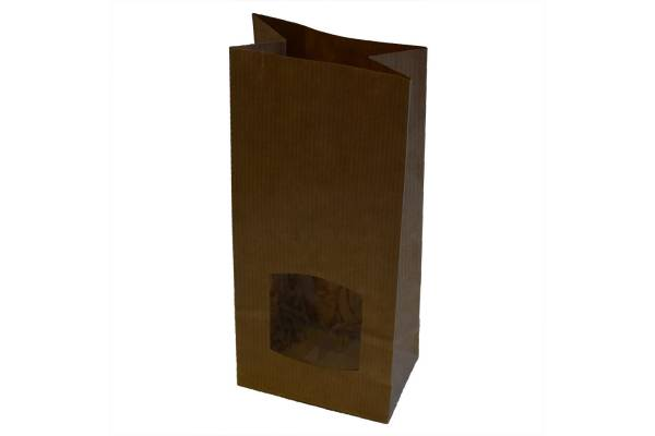 Paper bags with a window 80x50x190mm / 50pcs.