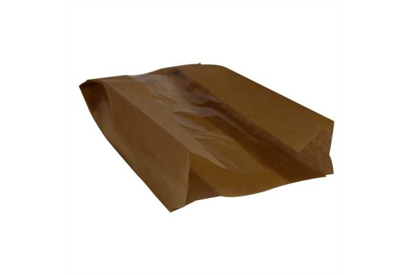 Popieriniai maišeliai su langeliu 150x60x280mm/100vnt.