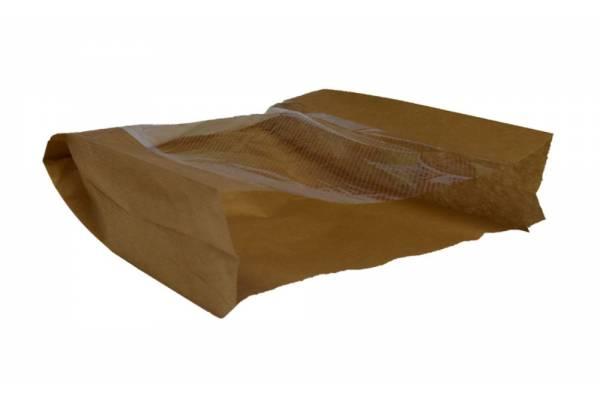 Popieriniai maišeliai su langeliu 180x60x250mm/100vnt.