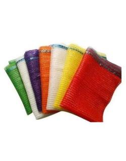 Mesh rashel bags with laces 40x60cm Orange