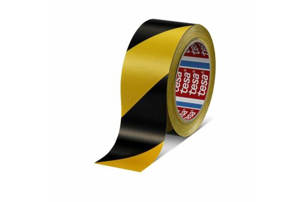 Marking tape  tesa® 60760 50mm x 33m  Yellow/Black