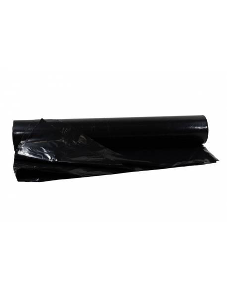 Polietileno plėvelė 6m x 120m x 100my pusrankovė juoda