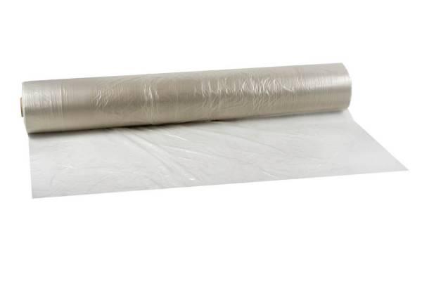 Polietileno plėvelė 3m x 200m/120my pusrankovė, skaidri pirminis PE