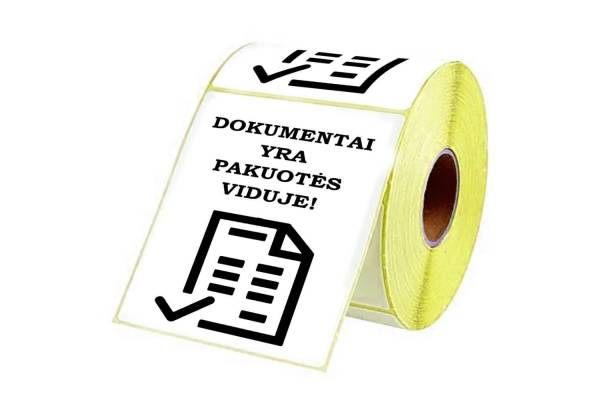 "Adhesive labels 98x150mm ""DOCUMENTS INSIDE"""