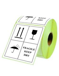 """Lipnios etiketės 98x150mm """"Fragile keep dry"""""""