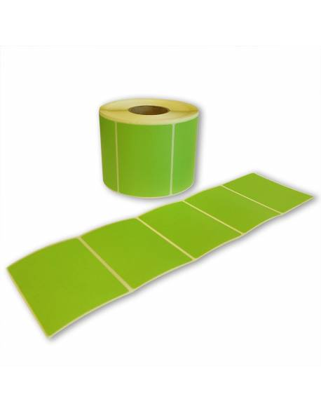 Lipnios etiketės 55,5mmx75 žalia sp.1000vnt/rul