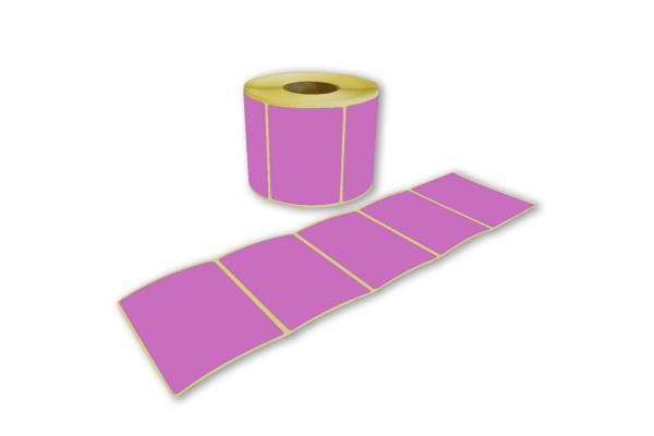 Adhesive colored labels 55.5x75mm 1000pcs./roll.