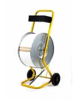 Trolley for PP fastening strap