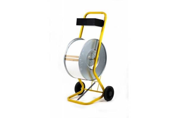 Mobile PP strapping tape dispenser / Yellow