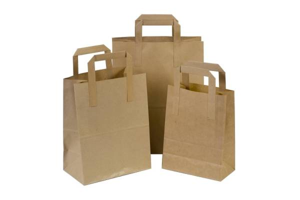 Craft paper shopping bag 260+140x320mm brown