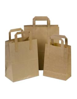 Craft paper shopping bag 180x80x220mm
