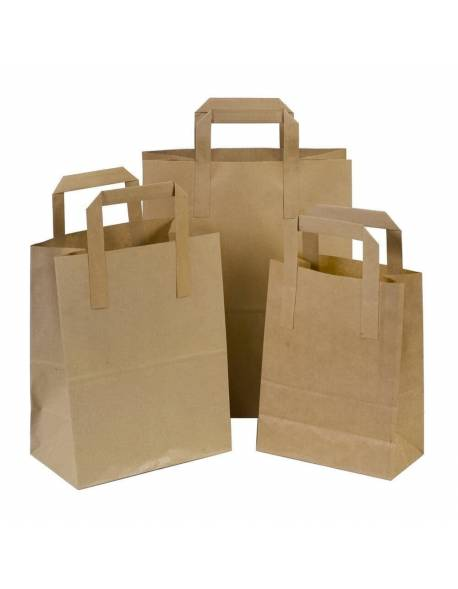 Craft paper shopping bag 220+100x280mm brown