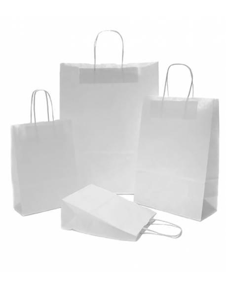 Paper shopping bag twist handles 400+160x450mm white