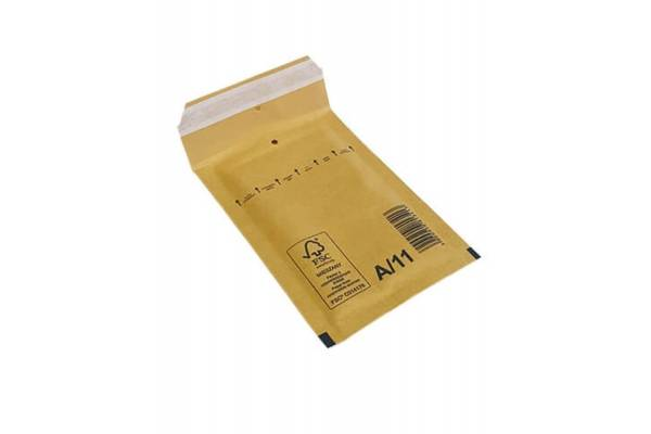 Bubble envelopes / mailers 120 x 175mm inside A/11 200pcs/box, Brown