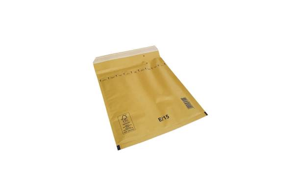 Bubble envelopes / mailers 220 x 265mm inside E/15 100pcs/box, Brown