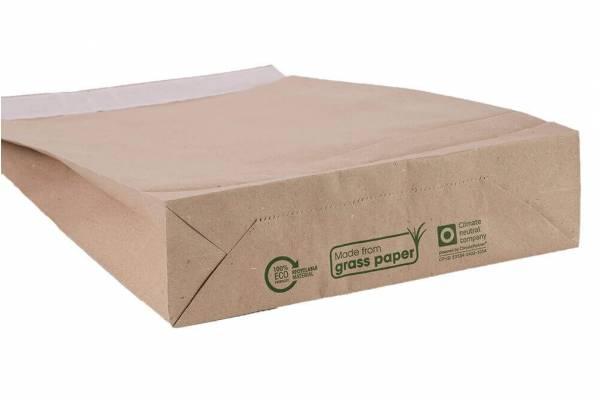 Perdirbto žolės popieriaus vokai siuntoms 300x80x430mm