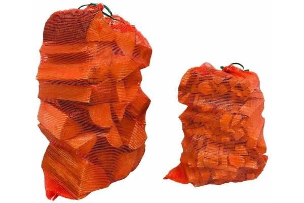 Tinkliniai maišai 500mm x 700mm leno oranžiniai
