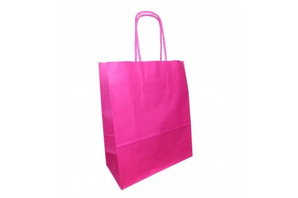 Dovanų maišelis 18cm x 8cm x 22cm Rožinė