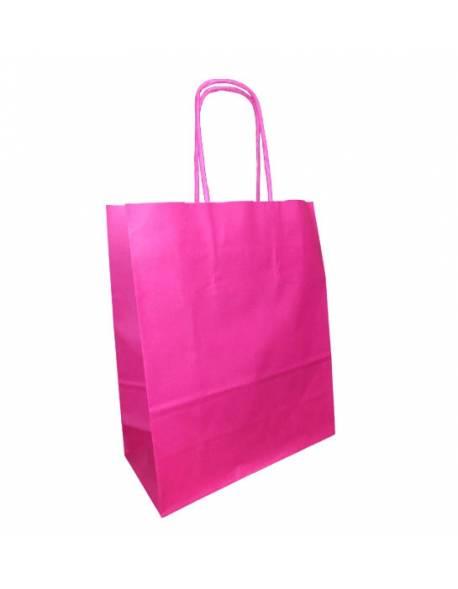 KRAFT BAG (WK) 18x8x22 PINK/ Rožinė sp.