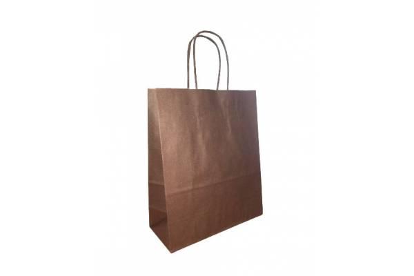 Dovanų maišelis 18cm x 8cm x 22cm Ruda