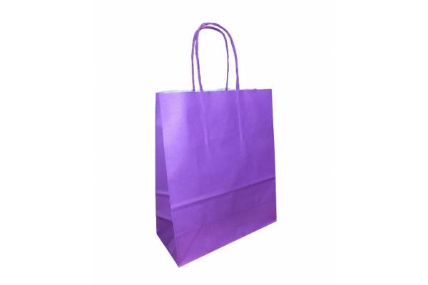 KRAFT BAG (WK) 18x8x22 PURPLE / Violetinė