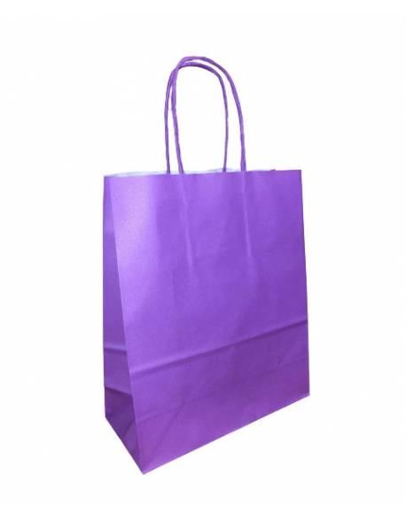 KRAFT BAG (WK) 18x8x22 PURPLE / Violetinė
