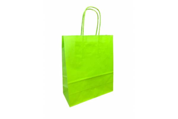 KRAFT BAG 18x8x22 (WK) LIME / Salotinė