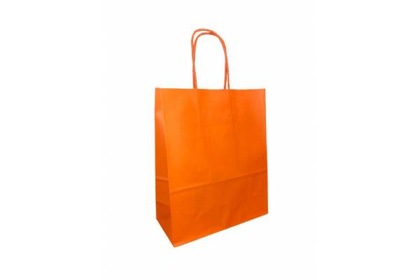 KRAFT BAG 18x8x22 (WK) ORANGE/ oranžinė