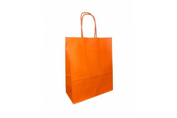 Dovanų maišelis 18cm x 8cm x 22cm Oranžinė