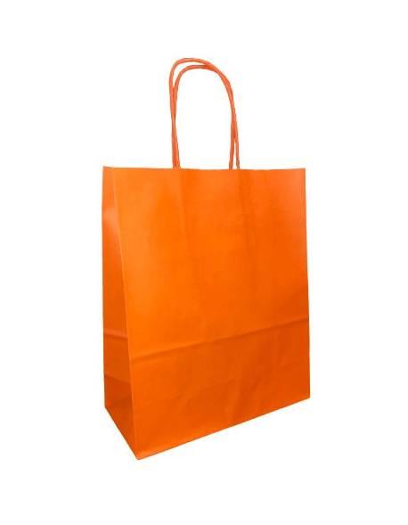 KRAFT BAG 18x8x22 (WK) ORANGE/ oranžinė