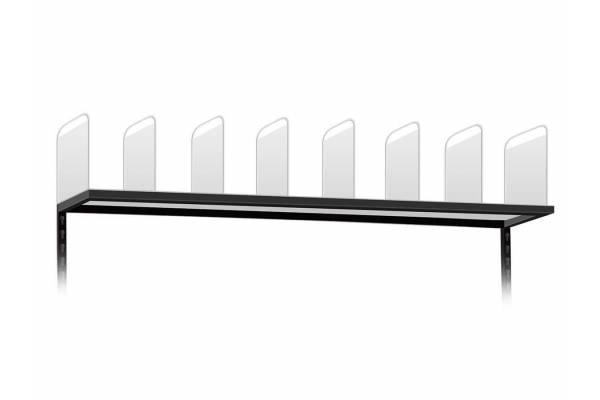 Lentyna su aliuminėmis pertvaromis kartoninėms dėžėms 100cm - RedSteel