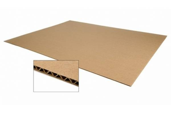 Corrugated cardboard sheets 1200 x 800mm 0,34kg/m²