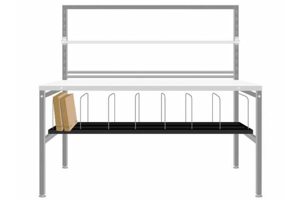 Lower shelves with compartments RedSteel
