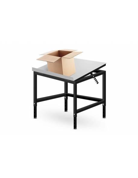 Kartoninių dėžių pakavimo stalas su pakreipiamu stalviršiu 80x80cm - RedSteel