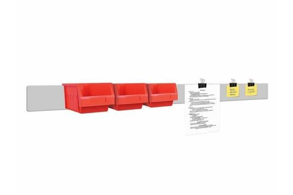 Flat front document holder 13x120cm RedSteel