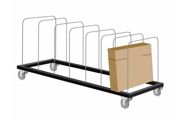 Vežimėlio/lentynos karkasinė platforma su ratukais ir pertvaromis 140x30cm - RedSteel