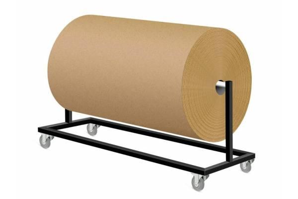 Mobilus gofruoto kartono/pakavimo plėvelės stovas 140x30x50cm(h) - RedSteel