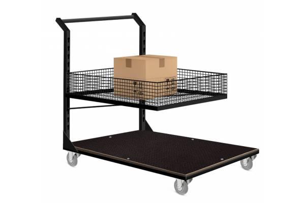Platforminis sandėlio/užsakymų surinkimo vežimėlis 60x90cm