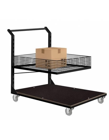 Sandėlio, užsakymų surinkimo vežimėlis 60x90cm RedSteel
