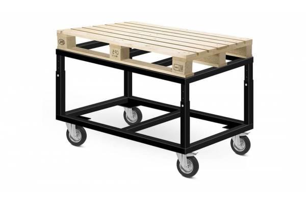 Platforminis vežimėlis padėklams (reguliuojamo aukščio) 120x80cm