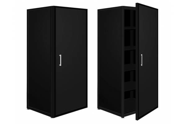 "Steel office cabinet ""Slant"" 180x40x60cm RedSteel"