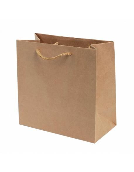 "Dovanų maišelis ""Naturalus - rudas"" 16,5x8x16,2cm"
