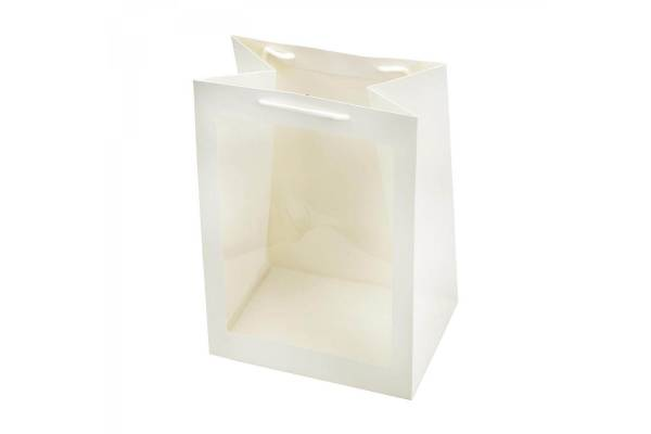 Gift bag with a transparent window 20cm x 16cm x 30cm