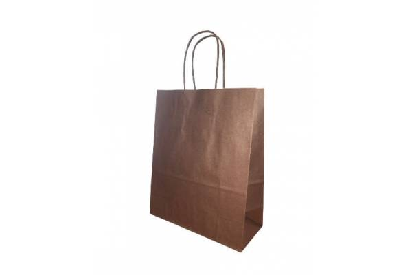 Gift bag 18cm x 8cm x 22cm Brown