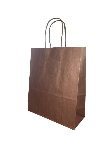 Gift bag 18cm x 8cm x 22cm Brown