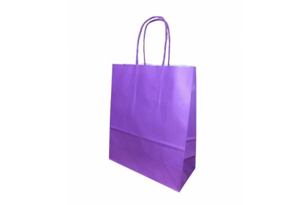 Gift bag 18cm x 8cm x 22cm Purple