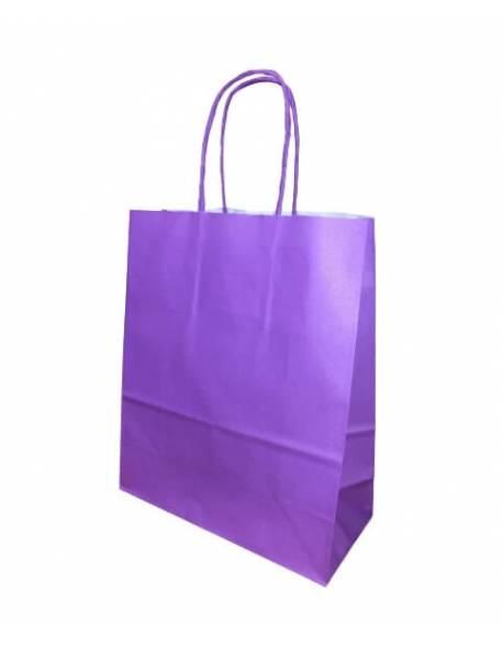 Gift bag 18cm x 8cm x 22cm Purple